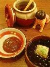 自家製ポン酢かニンニク味噌でいただきます。