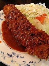 サービスランチのビフカツ(680円)ライス・汁・サラダ付