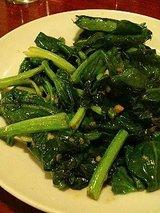 青菜炒め(500円)