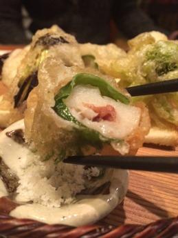 温 旬野菜天ぷら (2)