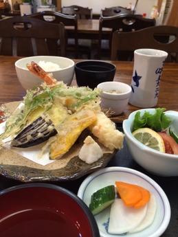 みかさ寿司 大海老天ぷら定 1000円 (1)