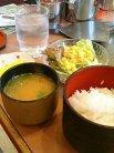 ご飯、味噌汁(+50円)