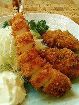ミックスフライ(ヒレかつ&エビフライ)1050円