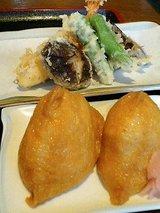 天ぷら盛合せといなり寿司