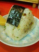 内橋ラーメン 焼き豚入りおにぎり(180円)