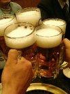 ビールで乾杯です