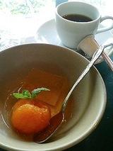 四季亭 みかんのシロップ漬けと林檎のゼリー