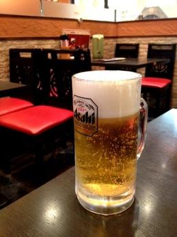 西安刀削麺 ビール