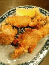 桔梗屋 若鶏の唐揚げ(380円)