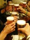 まずはビールで乾杯です!