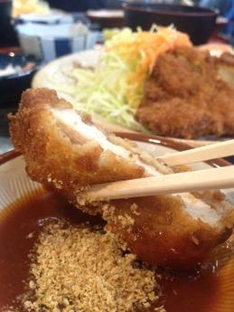 大富士  ロースカツ定食 1050円