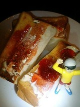 ジャム&バタートーストが美味くて美味くて・・・