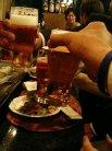 まずはビールで乾杯です。