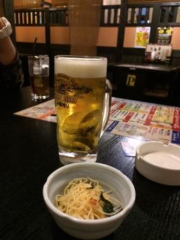 博多一番どり居食屋あらい ビール