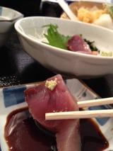 天晴 天ぷらさしみ定食 880円