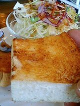 マザーグース 半切りトースト(20円)、ミニサラダ(20円)