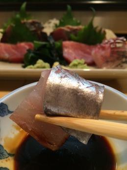 柳すし 刺身と焼魚 (1)