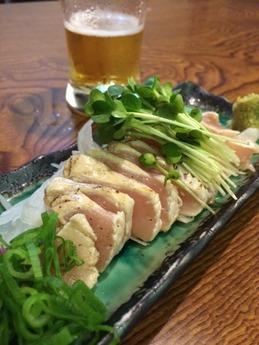 蕎麦切り戀 地鶏タタキ (1)