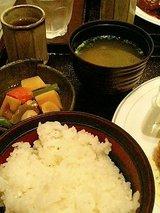 レクルス ハンバーグ&クリームコロッケ定食(880円)