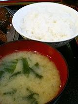 ご飯とお味噌汁