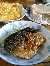 鯖塩焼き、出汁巻き、高野豆腐