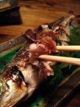 遊膳 丸アジ塩焼き 680円