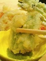 海馬 夏野菜の天ぷら 1000円