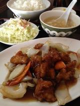 金龍 酢豚ランチ700円