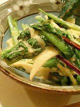 菜の花と竹の子のマヨネーズ和え
