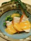 三河蛸の辛子酢味噌和え菜の花添え