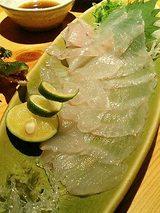 平目のお造り(900円)
