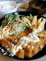 eMcafe チキンかつランチ 980円