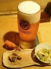 最初は生ビールです。