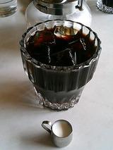 食前のアイスコーヒー