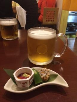 居酒屋げん ビール