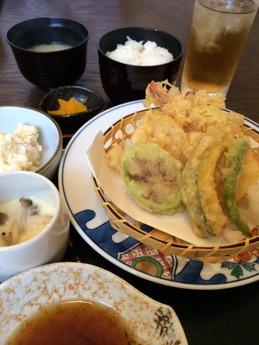 天晴れ 天ぷら定食