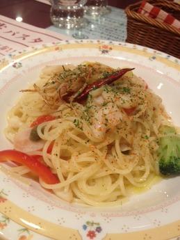 モッチモパスタ 彩り野菜とマト鯛ラグーのペペロンチーノ 997円