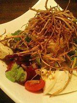 豆腐とゴボウのサラダ