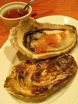 北海道昆布森 殻付生牡蠣、ジンジャービネガー(500円)