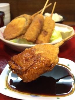 もぐらや 串カツ定食 800円 (1)
