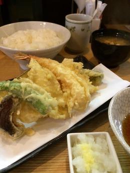 はちまき 天ぷら定食(竹)1000円 (1)