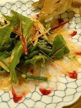 ボラのゴマポン酢サラダ