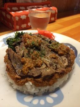 火星カレー 牛カレー草トッピング 1180円 (1)