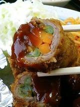 宝 牛肉の野菜巻き