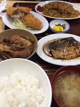 長野屋 さば煮定食 700円