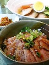 のむらや 黒毛和牛のトロ丼と冷麺セット 1260円