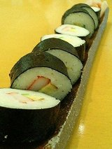 そうめんの里 レストラン庵 そうめん巻寿司(420円)