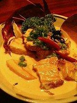 金魚 豚肉と茄子のクリーム煮(850円)