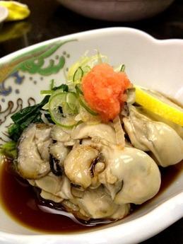 黒百合 ゆで牡蠣ポン酢
