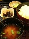 お味噌汁・ご飯・お漬物
